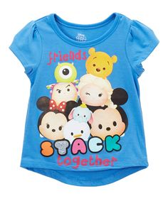 Take a look at this Disney Tsum Tsum Purple 'Stack Together' Tee - Toddler & Girls today!