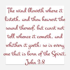 Speaking in Tounges when Gods fills you with His Spirit. You hear the sound  thereof. So is everyone born of the Spirit. We must be Born Again.~