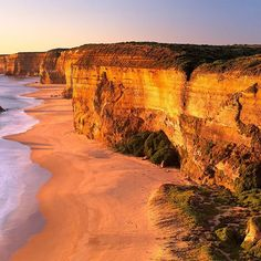 """All our dreams can come true, if we have the courage to pursue them."" - Walt Disney  Managed to catch this stunning golden light at the 12 Apostles along the Great Ocean Road. Hands up if you've been here before?  Photo 'Bisou Doré', The Twelve Apostles,"