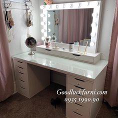 Organization Skills, Natural Beauty Tips, Dressing Table, Vanity, Make Up, Lights, Mirror, Bedroom, Inspiration