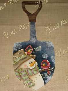 shovel with snowman