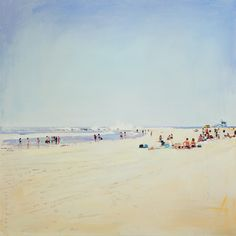 In love with Paul Ferney's beachscapes (beachscapes, is that a thing?) // Paul Ferney Venice Beach 1
