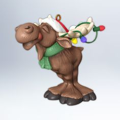 Merry Chris-moose  By Tracy Larsen.  $12.95  Hallmark Gold Crown Exclusive  This charming Keepsake Ornament was co-created for 2012 by fans like you.