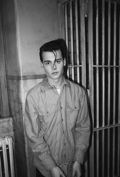 bf37d7784 When Johnny was good. Johnny Depp with hair curl. Was this for Cry Baby?