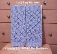 Lacy Leg Warmers: Dot Matthews (Bythehook) - Free Original Patterns - Crochetville