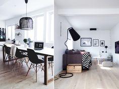 Her er finalistene i Norges vakreste hjem Boho Deco, Scandinavian Style, Office Desk, Sweet Home, Black And White, Living Room, Furniture, Home Decor, Blog