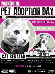 Mark & Brian Pet Adoption Day is June 16th! Adoptable Pets, Tillman the Skateboarding dog, vendors, & more!