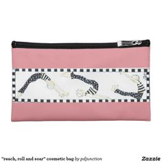 """""""reach, roll and soar"""" cosmetic bag"""