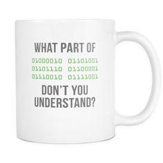 6973a19674 Mug Programmer Gifts - Binary Code mug - Funny Programmers Mug (11oz)- Drinkware