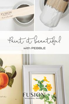 A warm, yet eye-catching grey, Pebble is a great stand alone colour, but also works well with other warm tones. Color Of The Week, All The Colors, Paint Furniture, Furniture Refinishing, Furniture Ideas, Pebble Color, Favorite Paint Colors, Sweet Violets, Arts And Crafts