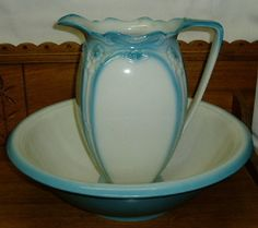turquoise pitcher and basin