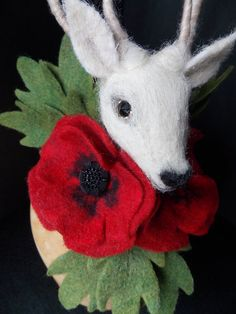 Deer / Stag Headdress OOAK Fascinator Burlesque by TheTwistedWing