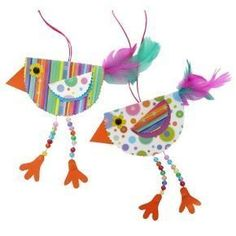 Eine einfach erklärte Bastelidee für Kinder! Mit bunten Papieren, Perlen und Federn einen farbenfrohen Vogel gestalten. Die Anleitung findest du hier.