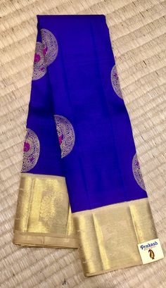 Traditional saree with new contrast from peak ash silks . South Indian Sarees, Indian Silk Sarees, Pure Silk Sarees, Banaras Sarees, Kanchipuram Saree, Traditional Sarees, Traditional Outfits, Saree Color Combinations, Indian Dresses