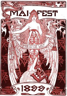 Plakat Maifeier Jugendstil by dietherpetter, via Flickr