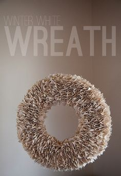 Winter White Canvas Wreath