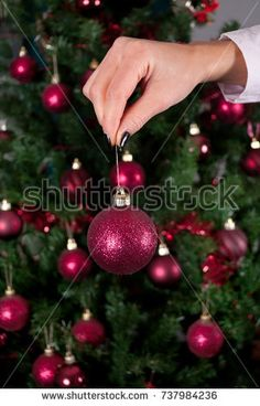 Young Beauty Girl With Reindeer Horns And Gift Boxes Christmas Tree In Background Xmas New Year Holiday Concept