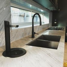 Our latest kitchen fit off. love the matte black taps and sink. Did you know the tap on the left does chilled, boiling and soda water?@zipwater_ @gessi_official @abeyaustralia #kitchen #luxury #marble #architecture #design #designer #interior #interiordesign #inspo #black #tap #sink #reno #plumbing #home #melbourne #decor #homestyle #style #modern #kitchentapware #kitchensinks #kitchens
