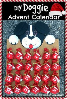 How to make a cute Doggie Avent Calendar! #ClausAndPaws #ad #petgifts