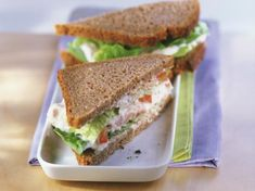 Parmesan tuna sandwiches is a delicious and easy recipe using red bell pepper, Parmesan cheese, mustard, and lemon juice. Sandwiches, Tuna Salad, Eat Smarter, Sandwich Recipes, Recipe Using, Sour Cream, Parmesan, Basil, Tapas
