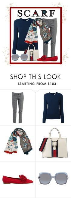 """""""65 degrees and cloudy in FLA!"""" by lara-pisani-sundberg ❤ liked on Polyvore featuring Dondup, Tory Burch, Franco Ferrari, Gucci, Aquazzura, Marc Jacobs and scarf"""