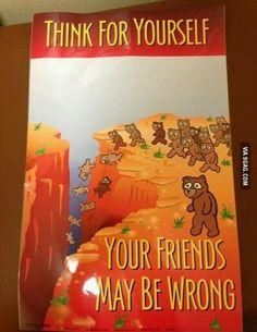 Strange motivational poster