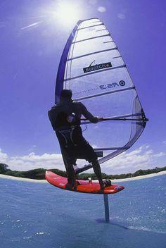 Foilboard wind surfing