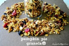 This week sure has been filled with pumpkin and believe it or not, I still have a no-bake pumpkin cookie to share with you! Expect nothing less, next week. We've had the pumpkin chili and now it's time for the pumpkin granola! I do have to warn you though, this pumpkin granola might be very difficult for you …