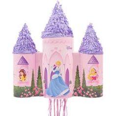 Disney Princess party pinata castle