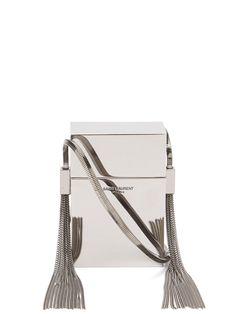 85f3dd77d86 GABRIELLE'S AMAZING FANTASY CLOSET   Smoking Minaudière silver metal  cross-body bag   Saint Laurent