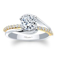 Barkev's White & Yellow Gold Engagement Ring 8033LTYRV