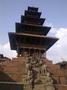 Bhad Gaon ( Bhaktapur) Nepal.  Nyatapole Temple