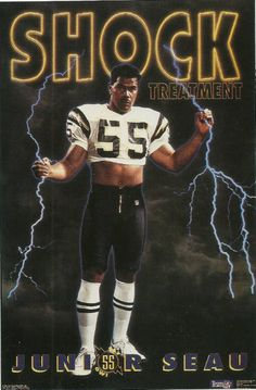 Junior Seau. Design by the Costacos Brothers.