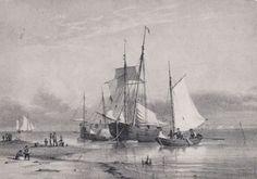Daenemark-Danmark-Soenderho-Fanoe-Segelschiff-Sammlung-Gemaelde