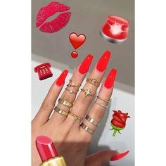 Opting for bright colours or intricate nail art isn't a must anymore. This year, nude nail designs are becoming a trend. Here are some nude nail designs. Sexy Nails, Glam Nails, Love Nails, Beauty Nails, How To Do Nails, Gorgeous Nails, Pretty Nails, Long Red Nails, Red Summer Nails