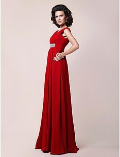 A-line Plus Sizes / Petite Mother of the Bride Dress - Ruby Floor-length Sleeveless Chiffon – GBP £ 72.99