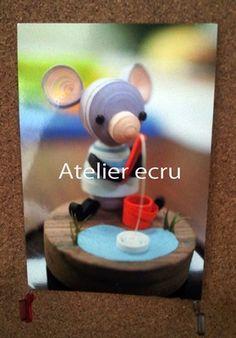 アトリエ∞えくりゅ 愉喜 フィシングマウスのポスカ Atelier Ecru (C)yuki   fishing mouse post card
