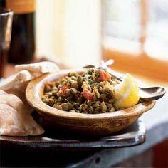 Warm Spiced Lentils   MyRecipes.com