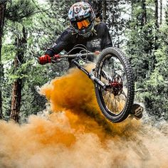 Starting saturday with a sick shot by @claudiofoco_mtb  In session @nickpescetto jumps with his gambler! Hot ir not? Coment below  #downhilladiction