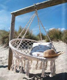 fauteuil-corde-suspendue-bohemian-plage - le blog deco de mlc