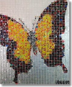 Alumosaics..... Art made from recycled cans!!! Love it.
