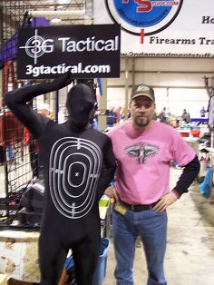 "Matt with the Moving ""Human"" Target —  at Dayton international Airport Exposition Center."