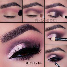Gorgeous Makeup: Tips and Tricks With Eye Makeup and Eyeshadow – Makeup Design Ideas Eye Makeup Glitter, Pink Eyeshadow Look, Purple Eye Makeup, Smokey Eye Makeup, Skin Makeup, Eyeshadow Makeup, Simple Eyeshadow Looks, Gorgeous Makeup, Love Makeup