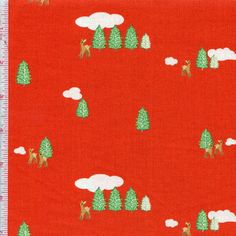 Hideaway By Lauren & Jessi Jung For Moda Fabrics Color: Tomato $5.98/y