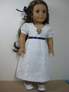 18 inch Doll Clothes American Girl 1800s White by nayasdesigns, $24.00