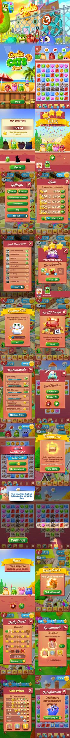 Cookie-Cats #Cookie ... Game Interface, Cookies, Cats, Crack Crackers, Gatos, Biscuits, Cookie Recipes, Cat, Kitty