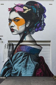 """Shinka"" wall mural by Fin DAC in Adelaide, Australia. Gorgeous street art!"