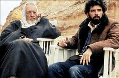 george lucas on the set of star wars