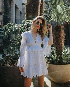 Get the dress for $318 at revolve.com - Wheretoget Summer Outfits, Casual Outfits, Fashion Outfits, Hippie Style, Hippie Boho, Colored Pants, Buy Dress, Wedding Gowns, White Dress