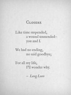 No closure for us....